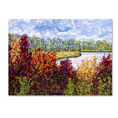 """Trademark Art """"Summers End"""" by Mandy Budan Painting Print on Wrapped Canvas Size: 14"""" H x 19"""" W x 2"""" D"""