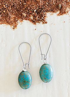 Turquoise drop earrings - African Bush Collection