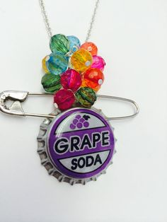 Ellie and Carl Necklace Inspired by Up-Grape Soda Pin and Balloons by BijouxetSoirees Disney Pixar Disneybound Jewelry