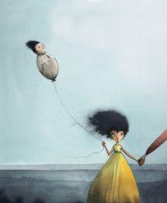 Om fraværende fedre i DBMagasinet Red Balloon, Balloons, Mellow Yellow, Book Illustration, Surrealism, Illustrators, Artsy Fartsy, Lisa, Brave