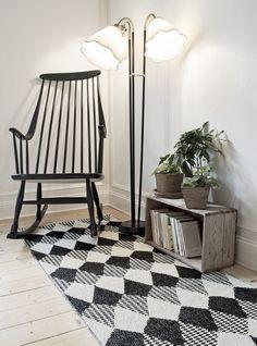 Tribus grey - Plastic rug 70x200cm