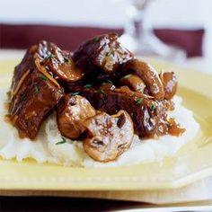Slow-braised Beef Stew with Mushrooms | MyRecipes.com