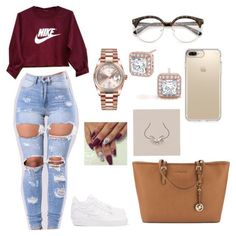 Cute Lazy Outfits With Jeans, Cute Outfits Pictures Swag Outfits For Girls, Cute Swag Outfits, Teenage Girl Outfits, Cute Comfy Outfits, Teen Fashion Outfits, Dope Outfits, Stylish Outfits, School Outfits, Lazy Outfits