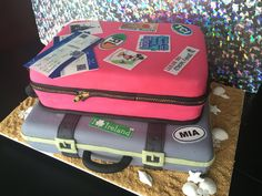 Traveling from Miss to Mrs. Bridal shower cake