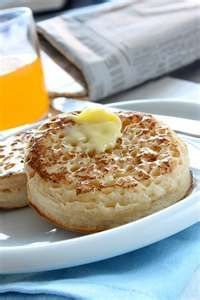 Hot buttered crumpets can't be beat, with a nice cup of tea of course.