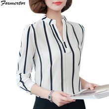 Plus Size Female Tops 2019 Spring Long Sleeve Women Office Blouse Autumn Ladies Cheap Long Sleeve Shirts, Long Sleeve Tops, Office Blouse, Blouse Styles, Printed Blouse, Casual Tops, Beautiful Outfits, Shirt Blouses, Blouses For Women