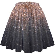 Stardust Galaxy Ombre Skirt - Long