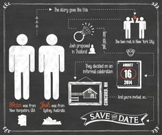 Save The Date by @chantals // Gay Wedding