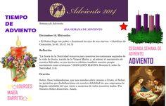 ORACIÓN. Diciembre 10º, MIÉRCOLES 2014. 3RA SEMANA DE ADVIENTO ҉҉LOURDES MARÍA BARRETO҉҉