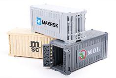 BrickLink+MOC+Item+:+Container+w/+sticker+space+(Light+Bluish+Gray)