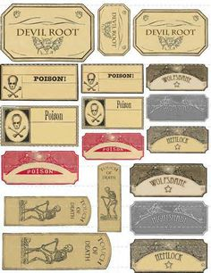 vintage shipping tags - strange