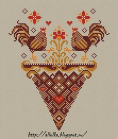 Like the chickens Cross Stitch Heart, Cross Stitch Alphabet, Cross Stitch Samplers, Cross Stitch Animals, Cross Stitching, Cross Stitch Embroidery, Cross Stitch Patterns, Needlepoint Patterns, Embroidery Patterns