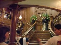 The grand staircase of the titanic