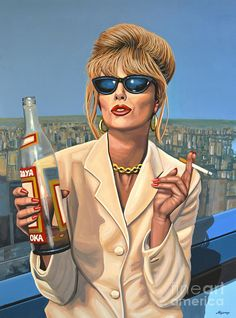 Joanna Lumley As Patsy Stone Print by Paul Meijering.  All prints are professionally printed, packaged, and shipped within 3 - 4 business days. Choose from multiple sizes and hundreds of frame and mat options.