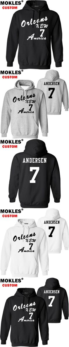 ANDERSEN pullover free custom name number logo usa Morten autumn winter jersey keep warm Great Dane pure black white IN clothing