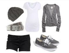 Back to school outfit. Idk why, but I love cardigans with shorts
