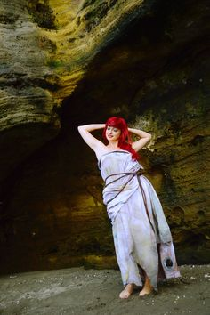 This is perfect! Ariel's sail dress from The Little Mermaid. - 8 Ariel Castaway Dress Cosplays