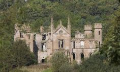 Cambusnethan Priory, Scotland - Built in 1820 for the Lockhart family of Castlehill, it is one of the few remaining examples of gothic revival architecture in Scotland.  The house was converted into a hotel in 1980, but the hotel closed in 1984, and has since been abandoned...