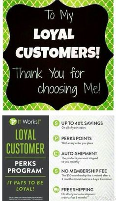 Thank you to my recent 5 loyal customers this past week. Thank you, thank you, thank you!! We are on this journey together. If anyone else is interested, let me know. I'll get you started. #ItWorks