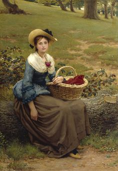 George Dunlop Leslie, R.A. -- The Lass of Richmond Hill -- High quality art prints, canvases -- Royal Academy Prints