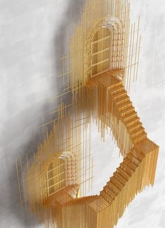 David Moreno Creates Incredible Floating City Sculptures That You Can't Unsee Toothpick Sculpture, Wire Art Sculpture, Art Sculptures, Pick Art, Instalation Art, 3d Drawings, Design Blog, Magazine Art, Architecture