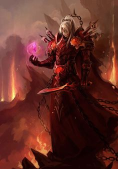 WoW Warlock Artwork Super cool World of Warcraft Art Art Warcraft, World Of Warcraft Game, Warcraft Movie, Blood Mage, Blood Elf, Character Inspiration, Character Art, Character Design, Dnd Characters