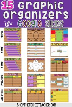 15 Graphic Organizers students can complete independently or collaboratively using Google Slides. Slides are set to print on 11x8.5 paper!