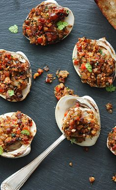 Spanish-Style Baked Stuffed Clams. Bacony, Buttery & Briny Almejas