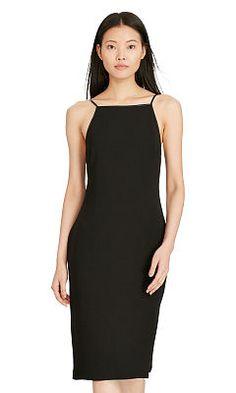 Leather-Trim Sheath Dress - Polo Ralph Lauren Short - RalphLauren.com