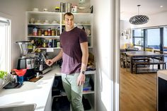 Brodie Retallick in his new scullery with large window for natural light #scullery #kitchen #house #interiordesign #brodieretallick #generationhomes