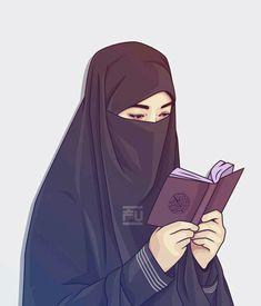 Womens Wallpaper Anime Ideas For 2019 Hijabi Girl, Girl Hijab, Muslim Girls, Muslim Couples, Hijab Drawing, Anime Muslim, Muslim Hijab, Islamic Cartoon, Hijab Cartoon