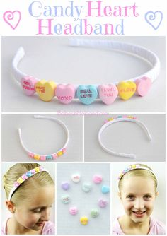 Candy Heart Headband from BabesInHairland.com #valentinesday #candy #accessories #headband #hearts