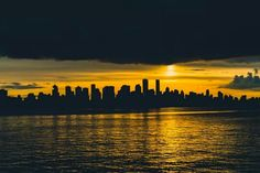 Vancouver silhouette at sunset
