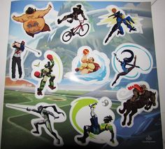 Overwatch Olympics 2016 (Summer Games) Stickers (2 of 2),'