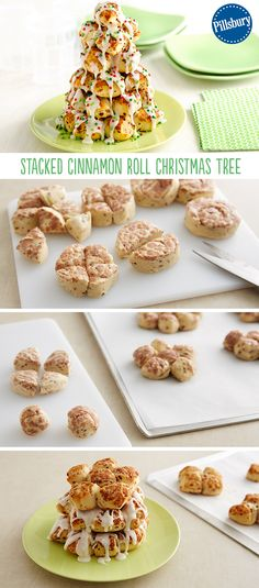 Take classic cinnamon rolls to the next level with this super easy and fun Christmas tree! The whole family will be impressed.