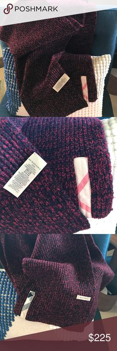 """Burberry scarf/wrap soft and cozy! Gorgeous authentic and very soft! 10""""x102"""" 56%cotton 44% wool.  All tags in place. Burberry Accessories Scarves & Wraps"""