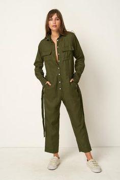 e8d4dbfd007 Rue Stiic Preston utility jumpsuit in khaki olive green