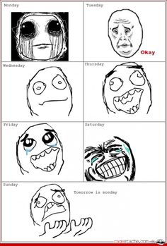 days of the week...