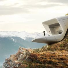 Zaha Hadid has revealed images of Messner Mountain Museum Corones, one of six museum buildings in the Dolomites of northern Italy.
