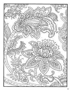 Paisley Coloring Pages for Adults | Dover Paisley Designs Coloring Book