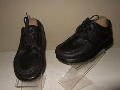 eba4e1fbe4b SAS Tripad Bout Time Black Leather Casual Oxford Comfort Shoes Mens Sz.8 WW