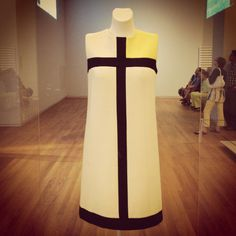 Piet Mondrian inspired dress by Yves Saint Laurent // Rijksmuseum
