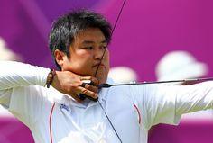 Men's Individual Archery  Gold: Oh-Jin Hyek, South Korea  Silver: Takaharu Furukawa, Japan  Bronze: Xiaoxiang Dai, China