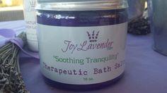 """Soothing Tranquillity""  Therapeutic Bath Salts Lavender Bath Salts Lavender Dead Sea Salts Lavender Farm Bath Salts"