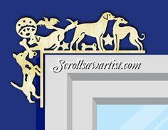 Wood Decorative corner - Dogs