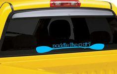 Items similar to Paddle like a girl Kayak Vinyl Decal Sticker-Kayak Vinyl Decal Sticker-Paddle Decal Sticker-Girly Kayak Decal Sticker-Kayak Decals on Etsy Kayak Decals, Kayak Stickers, Vinyl Decals, Phone Decals, Oregon Coast Camping, White Water Kayak, Small Shark, Kayaking Tips, Kayak Rack