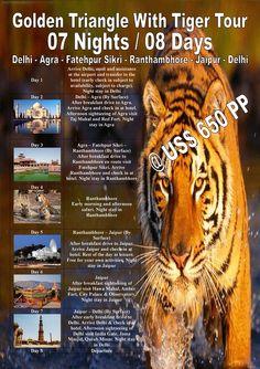 Golden Triangle With Tiger Tour 07 Nights / 08 Days Delhi - Agra - Fatehpur Sikri - Ranthambhore - Jaipur - Delhi