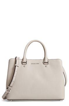 f1d151bd78e997 New MICHAEL Michael Kors Large Savannah Leather Satchel fashion online.  [$298]?@