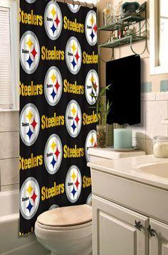 Curtain Ideas: Steelers bathroom shower curtain