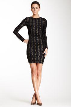 Zoe Gold Lace Dress